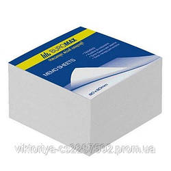 Блок білого паперу для нотаток JOBMAX 80х80х20мм., не скл.