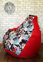 Кресло мешок Exclusive, кресло Груша, бескаркасный пуф,  Оксфорд, бескаркасная мебель Loft