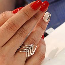 Стальное кольцо с цирконами