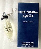 "Мини-парфюм для мужчин ""D&G"" D&G Light Blue  Pour Homme 30 мл"