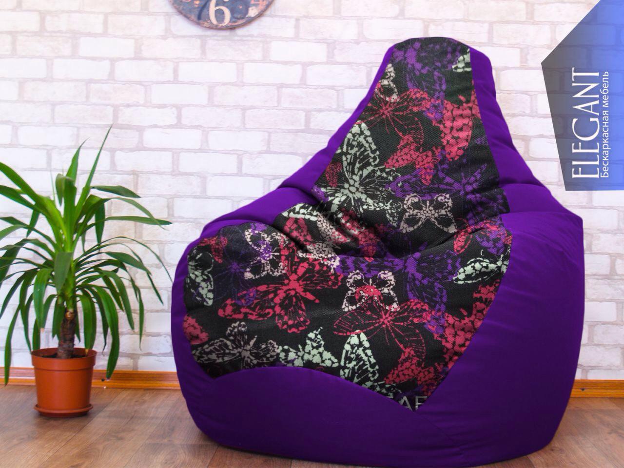 Кресло мешок Exclusive, кресло Груша, бескаркасный пуф, бескаркасная мебель Loft, мебель для кафе