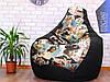 Кресло мешок Exclusive, кресло Груша, бескаркасный пуф, бескаркасная мебель Loft, мебель для кафе, фото 6