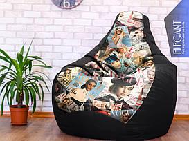 Кресло мешок Exclusive, кресло Груша, бескаркасный пуф, бескаркасная мебель Loft, мебель для кафе ХХЛ 140*100 см