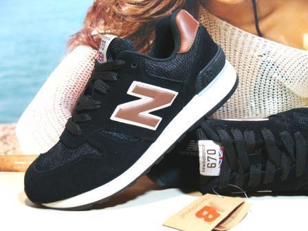 Мужcкие кроссовки New Balance 670 (реплика)черные 44 р.