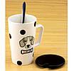Чашка с крышкой и ложкой Собака