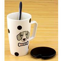 Чашка с крышкой и ложкой Собака, фото 1