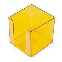 Бокс для паперу 80х80х45мм, JOBMAX,, жовтий