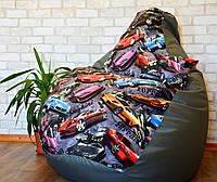 Кресло ГРУША, мешок Exclusive Cars , кресло мешок,  бескаркасный пуф,  Оксфорд, бескаркасная мебель Loft ХЛ 105*85 см