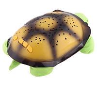 Проектор звездного неба Night Turtle Черепаха музыкальная Салатовая, фото 1