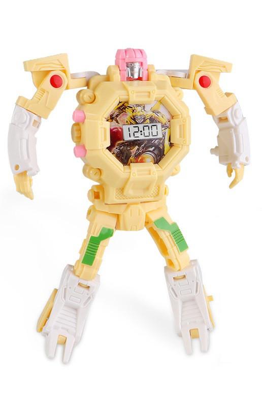 Детская игрушка SUNROZ Robot Watch часы робот-трансформер Желтый (SUN0649)