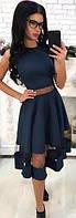 Платье женское с фатиновой вставкой  аан1129