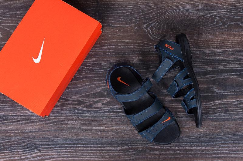 Чоловічі шкіряні сандалі Nike ACG Blue