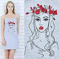 Сорочка женская домашняяМавка (ночнушка) ночная сорочка короткая трикотажная пижама мягкая хлопок