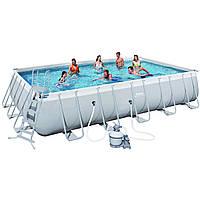 Каркасный бассейн Bestway 56471 (6,71 х 3,66 м, прямоугольный)