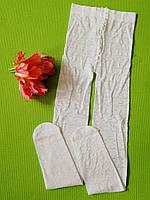Белые капроновые колготы Jujube 116-164 см девочкам/подросткам