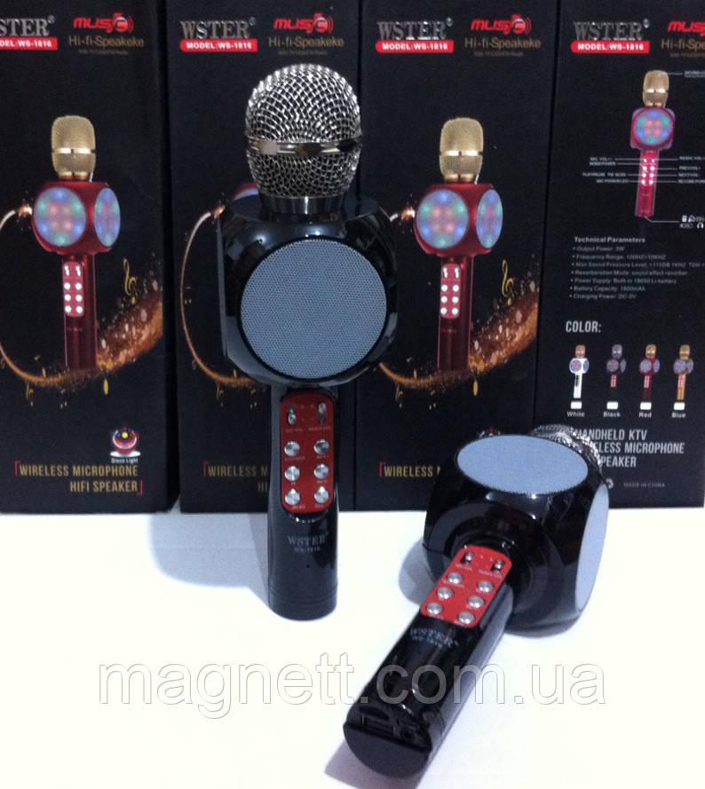 Портативний мікрофон для караоке WSTER WS-1816