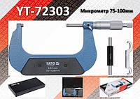 Микрометр Ra-75...100мм, деление-0.01мм., YATO YT-72303