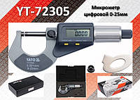Микрометр цифровой Ra-0...25мм., деление-0.001мм., YATO YT-72305
