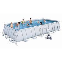 Каркасный бассейн Bestway 56475 (7,32 х 3,66 м, прямоугольный)
