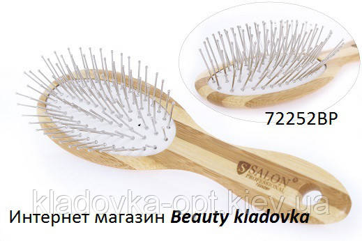Расчёска массажная Salon Professional 72252BP дерево, фото 2