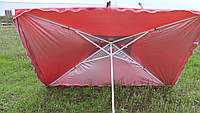 Зонт квадратный торговый пляжный. 2x3 с клапаном и серебряным напылением.