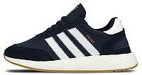 Мужские спортивные кроссовки Adidas Iniki Runner Boost Navy (Адидас Иники) синие