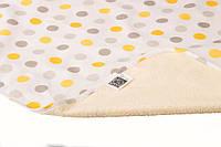 Пеленка двусторонняя непромокаемая дышащая 70x50 Eco Cotton простынь детская Многоразовая мягкая и приятная