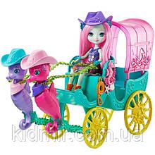 Набор Enchantimals Карета экипаж и кукла Сандела Морской конек FKV61