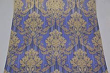Обои на стену, дуплекс, бумажная основа, дворцовый стиль, золотые, синие, B64,4 Цезарь 8102-03, 0.53*10м, фото 3