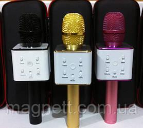 Беспроводной микрофон караоке bluetooth Q7 в чехле