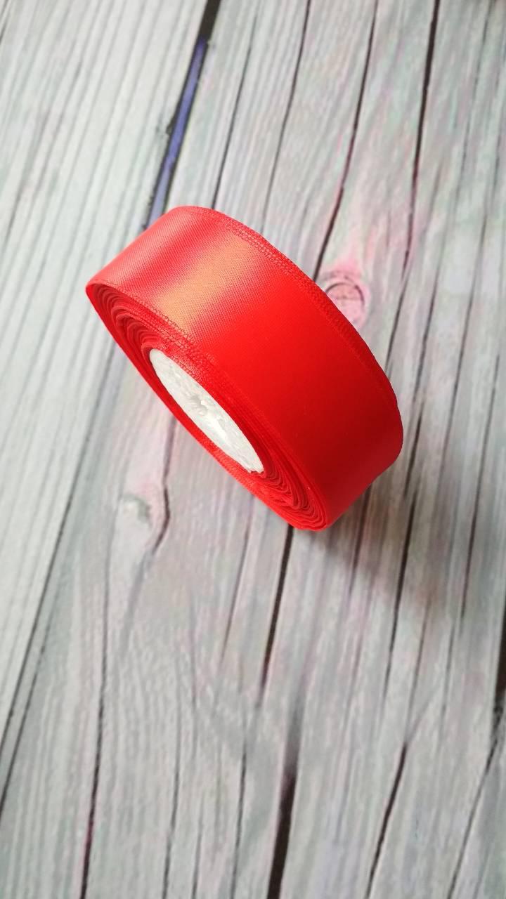 Атласная лента 2,5 cм Красная