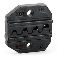 Матрица МПК-04 для опрессовки неизолированных разъемов и наконечников (автоклемм) под двойной обжим