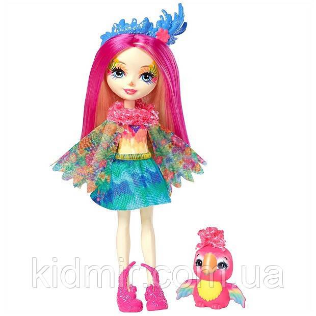 Кукла Enchantimals попугай Пики Какаду с питомцем FJJ21