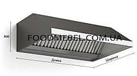 Зонт вытяжной пристенный 1800х1000х400 мм из нержавеющей стали с жироулавителями