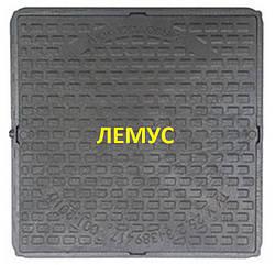 Люк квадратный пластиковый черный без запорного устройства