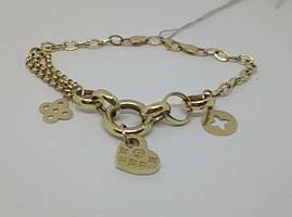 Золотий браслет (Якірне). Артикул 322415ж 20