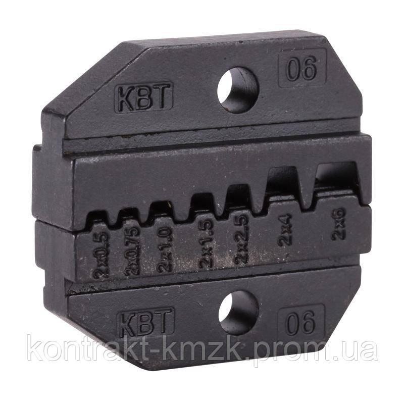 МПК-06 матрицы для опрессовки двойных изолированных втулочных наконечников