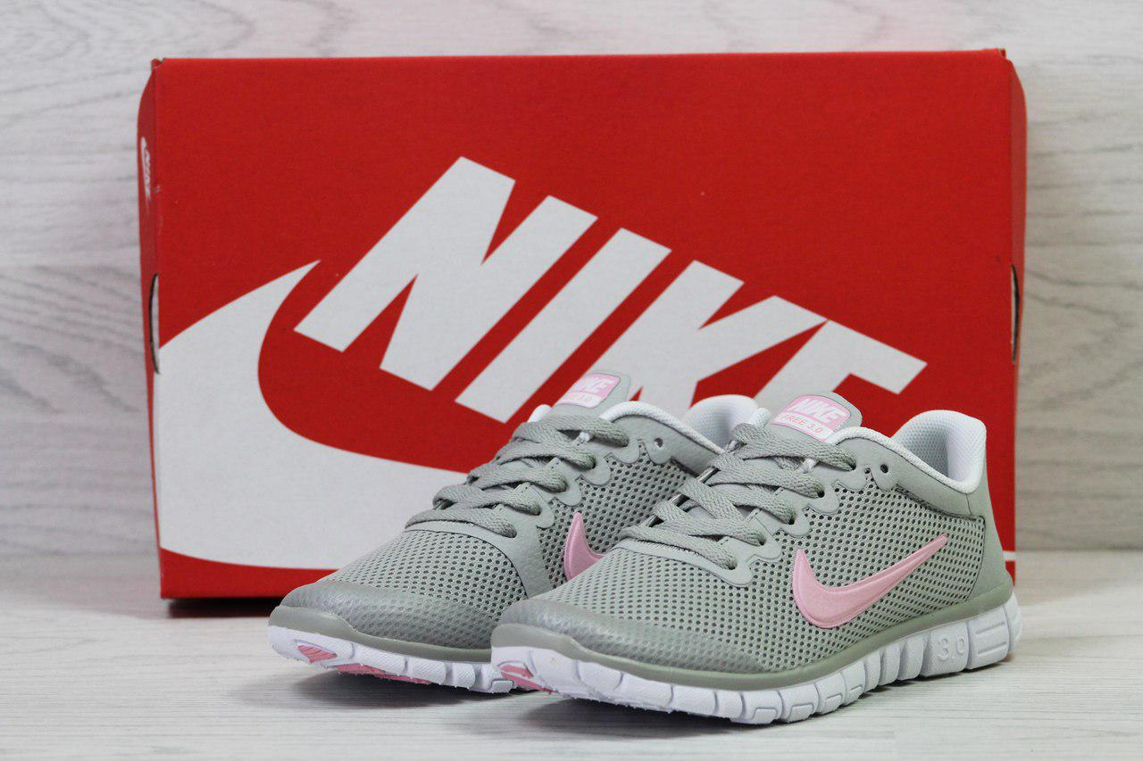 Кроссовки женские  Nike Free Run 3.0  (серые), ТОП-реплика