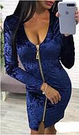 Платье женское бархатное двустороннее  аан1027, фото 1