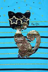 "Туника для девочки украшена пайетками 110-116-122-128 рост, ""By-Gri"" Турция, фото 3"