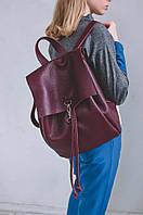 Кожаный городской рюкзак Summer | Бордо, фото 1