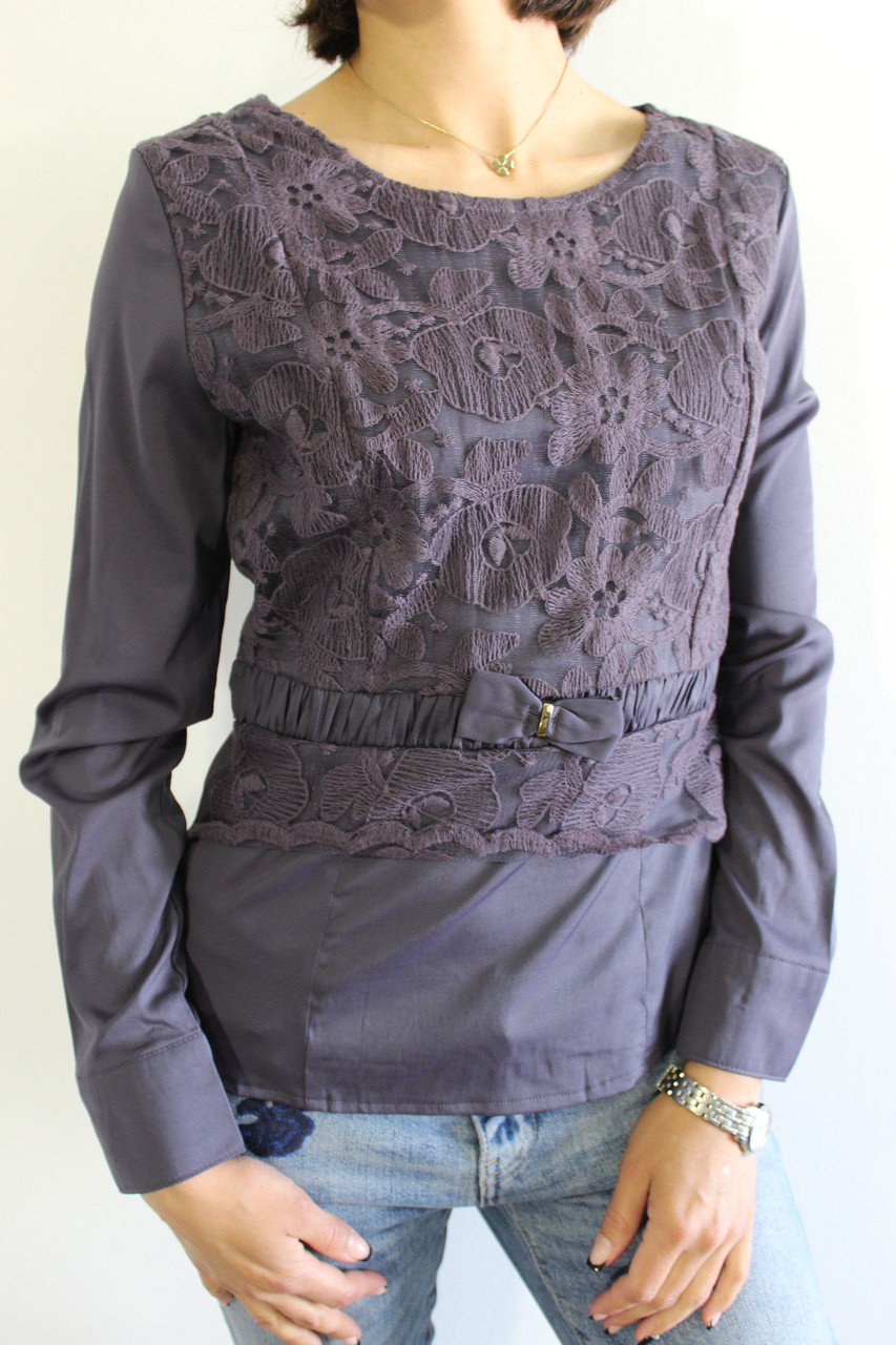 Сорочка жіноча темно-сіра 1348