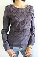 Рубашка женская темно-серая 1348 S