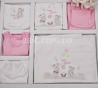 """Набор одежды """"Happy friends"""" для девочки, розовый, 10 предметов"""