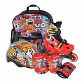Детские роликовые коньки с защитой и шлемом Tempish Monster Baby skate XS, S, M