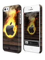 Cases for iphone, Чехол для iPhone 4/4s/5/5s/5с, Apple flame, пламя