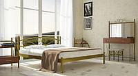 Кровать металлическая Вероника Золото 80*190 (Металл дизайн)