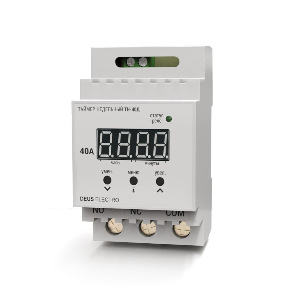 Таймер недельный цифровой на DIN-рейку ТН-40Д (40А, 220В)