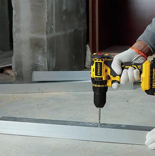 Шуруповерт-дрель аккумуляторний 18V, бесчеточный, F=55 Nm, Li-ion 1.5 А/ч., 13 мм, SBD20S2K STANLEY Power, фото 2