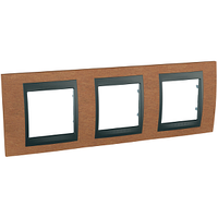Рамка 3-мод Schneider Electric Unica Черешня/Графит (MGU66.006.2M2)